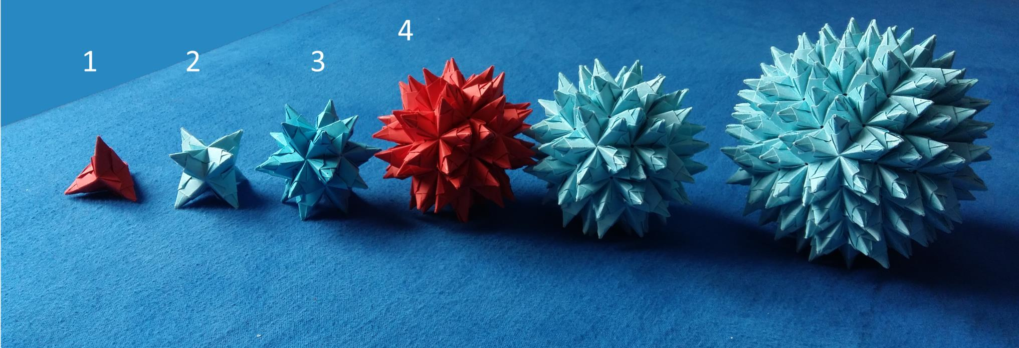 Modular Origami: How to Make a Cube, Octahedron & Icosahedron from ...   696x2033